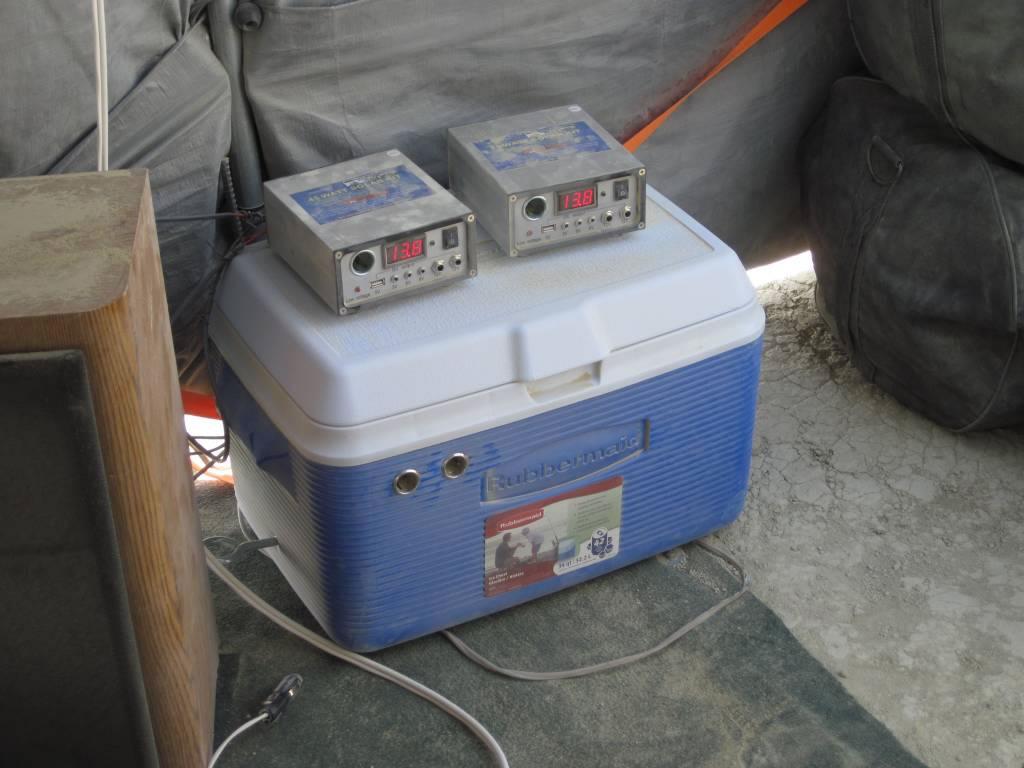 Solar Power Cooler Burning Man